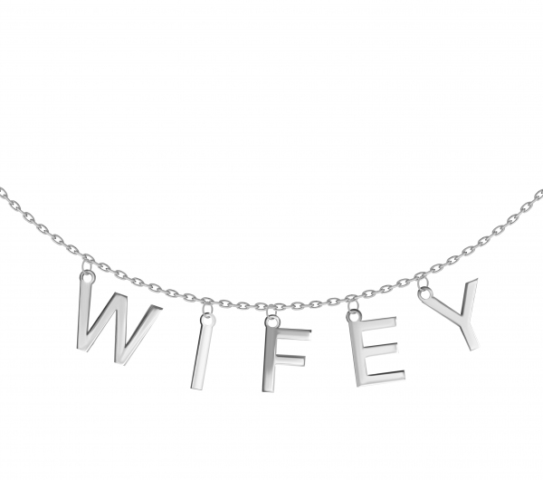 grav Wifey ezüst Nyaklánc