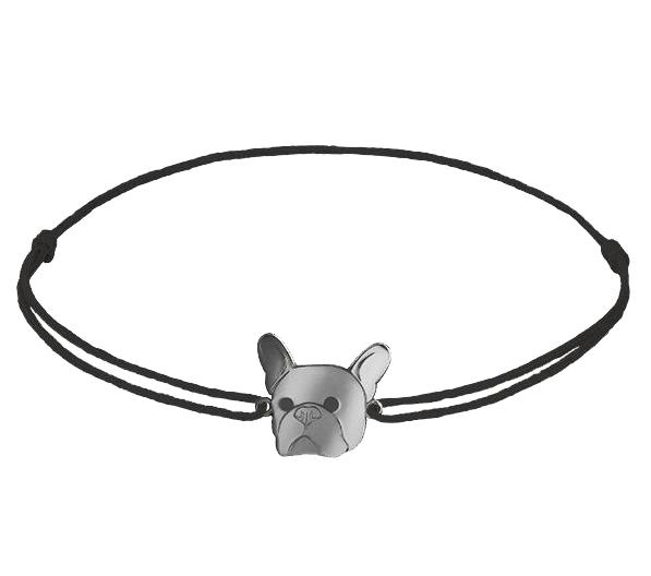 Grav Francia Bulldog Ezüst Karkötő
