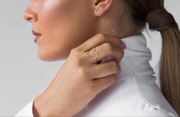 GRAV contour heart Ezüst 925 Gyűrű