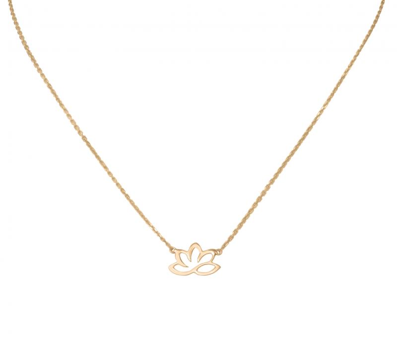 GRAV Arany 14K Lótuszvirág Nyaklánc  c7b0a83e68