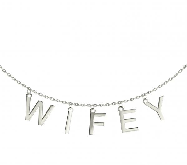 grav wifey arany 14k nyaklánc