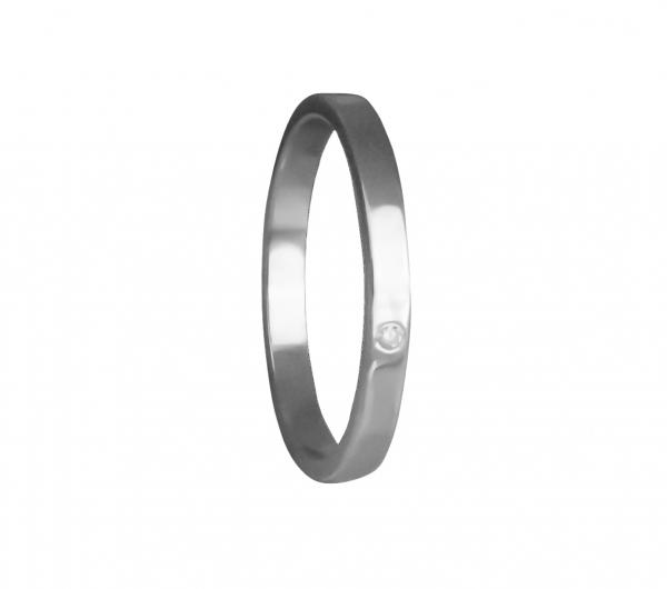 Grav Marry Ezüst Gyémánt Gyűrű