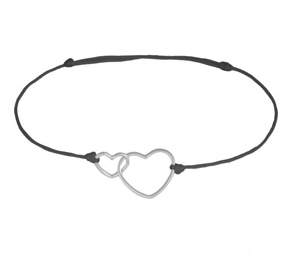 GRAV Double Heart Ezüst 925 Karkötő